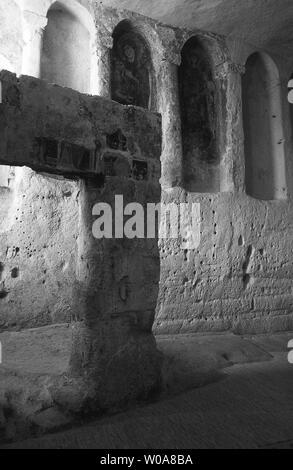 italy, basilicata, matera, santa lucia alle malve convent - Stock Photo