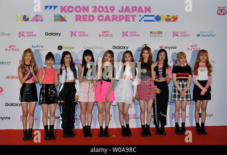 South Korean girl group Cherry Bullet attend the event of
