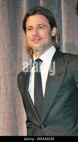Actor Brad Pitt attends the world premiere gala screening of 'Moneyball' at Roy Thomson Hall during the Toronto International Film Festival in Toronto, Canada on September 9, 2011.  UPI/Christine Chew - Stock Photo