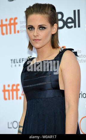 Kristen Stewart arrives at the Toronto International Film Festival premiere of 'Equals' at the Princess of Wales theatre in Toronto, Canada on September 13, 2015. Photo by Christine Chew/UPI - Stock Photo