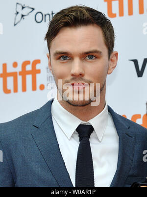 Nicholas Hoult arrives at the Toronto International Film Festival premiere of 'Equals' at the Princess of Wales theatre in Toronto, Canada on September 13, 2015. Photo by Christine Chew/UPI - Stock Photo