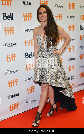 Kathryn Aboya arrives at the TIFF soiree annual fundraiser held at the TIFF Bell Lightbox in Toronto, Canada on September 6, 2017.  The event is a celebratory kick-off for the 42nd Toronto International Film Festival (TIFF) which runs September 7-16 and also a fundraiser with proceeds going to 'Share Her Journey', a TIFF campaign to support female voices in screen industries. Photo by Christine Chew/UPI - Stock Photo