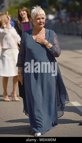 Dame Judi Dench arrives for the Toronto International Film Festival premiere of 'Victoria & Abdul' at the Princess of Wales Theatre in Toronto, Canada on September 10, 2017. Photo by Christine Chew/UPI - Stock Photo