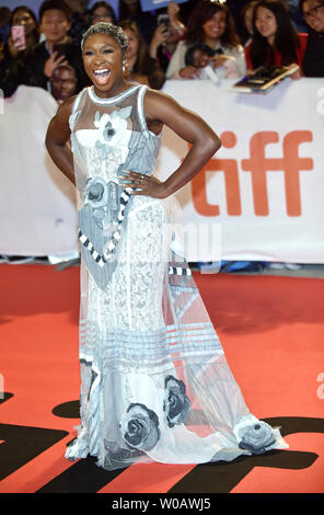 Cynthia Erivo arrives for the world premiere of 'Widows' at Roy Thomson Hall during the Toronto International Film Festival in Toronto, Canada on September 8, 2018. Photo by Christine Chew/UPI - Stock Photo