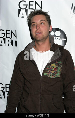 Lance Bass arrives at a party where the Beastie Boys were performing at the Sundance Film Festival in Park City, Utah, on January 23, 2006.    (UPI Photo/Roger Wong) - Stock Photo