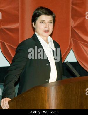 Actor Isabella Rossellini, the daughter of filmmaker Roberto