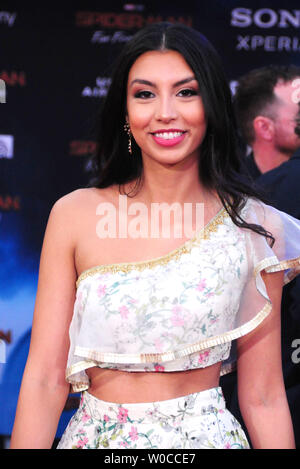 Hollywood, California, USA 26th June 2019 Actress Zoha Rahman attends Columbia Pictures Presents The World Premiere of 'Spider-Man Far From Home' on June 26, 2019 at TCl Chinese Theatre in Hollywood, California, USA. Photo by Barry King/Alamy Live News - Stock Photo