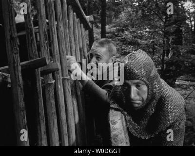 LE SEPTIEME SCEAU LE 7eme SCEAU DET SJUNDE INSEGLET 1957 de Ingmar Bergman Gunnar Bjornstrand. d'apres la piece de Ingmar Bergman based on the play by - Stock Photo