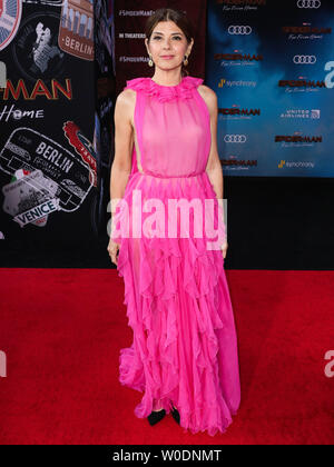 Hollywood, United States. 26th June, 2019. HOLLYWOOD, LOS ANGELES, CALIFORNIA, USA - JUNE 26: Actress Marisa Tomei wearing Valentino arrives at the Los Angeles Premiere Of Sony Pictures' 'Spider-Man Far From Home' held at the TCL Chinese Theatre IMAX on June 26, 2019 in Hollywood, Los Angeles, California, United States. (Photo by Xavier Collin/Image Press Agency) Credit: Image Press Agency/Alamy Live News - Stock Photo