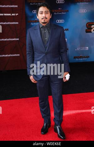 Hollywood, United States. 26th June, 2019. HOLLYWOOD, LOS ANGELES, CALIFORNIA, USA - JUNE 26: Tony Revolori arrives at the Premiere Of Sony Pictures' 'Spider-Man Far From Home' held at the TCL Chinese Theatre IMAX on June 26, 2019 in Hollywood, Los Angeles, California, United States. (Photo by David Acosta/Image Press Agency) Credit: Image Press Agency/Alamy Live News - Stock Photo