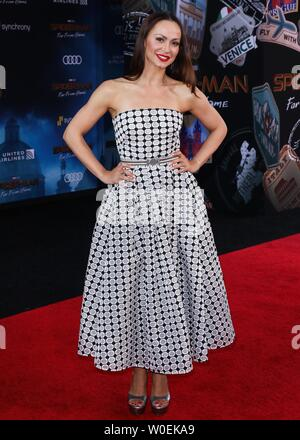 Hollywood, United States. 26th June, 2019. HOLLYWOOD, LOS ANGELES, CALIFORNIA, USA - JUNE 26: Karina Smirnoff arrives at the Premiere Of Sony Pictures' 'Spider-Man Far From Home' held at the TCL Chinese Theatre IMAX on June 26, 2019 in Hollywood, Los Angeles, California, United States. (Photo by David Acosta/Image Press Agency) Credit: Image Press Agency/Alamy Live News - Stock Photo