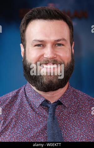 Hollywood, United States. 26th June, 2019. HOLLYWOOD, LOS ANGELES, CALIFORNIA, USA - JUNE 26: Taran Killam arrives at the Premiere Of Sony Pictures' 'Spider-Man Far From Home' held at the TCL Chinese Theatre IMAX on June 26, 2019 in Hollywood, Los Angeles, California, United States. (Photo by David Acosta/Image Press Agency) Credit: Image Press Agency/Alamy Live News - Stock Photo