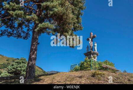 France, Hautes-Pyrénées, Aure valley, Arreau, martyrdom (Saint James way) - Stock Photo