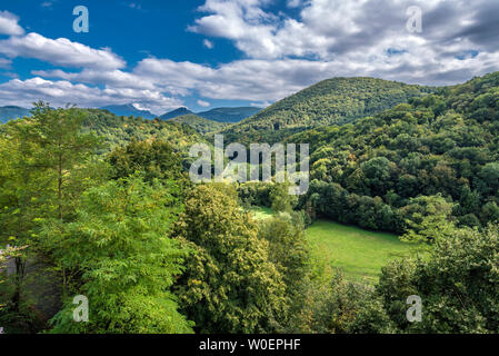 France, Piedmont of the Pyrenees, Haute Garonne, Saint Bertrand de Comminges, (Most Beautiful Village in France) Saint James way, (UNESCO World Heritage) - Stock Photo