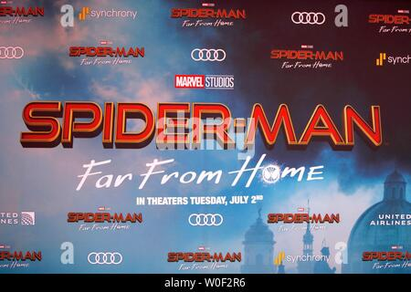 General Atmosphere at arrivals for SPIDER-MAN FAR FROM HOME Premiere, TCL Chinese Theatre, Hollywood, CA June 26, 2019. Photo By: Priscilla Grant/Everett Collection - Stock Photo
