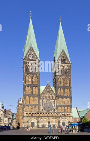 St. Peters cathedral, Bremen, Germany - Stock Photo