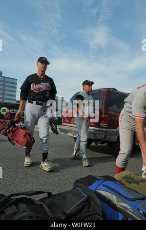 Democrat Rep. Bart Stupak (D-MI) unloads his gear before playing against the Republicans at the 49th Annual Congressional Baseball Game at Nationals Stadium in Washington on June 29, 2010. UPI/Alexis C. Glenn - Stock Photo