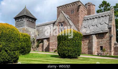 All Saints Church, an Arts and Crafts Gem, Brockhampton-by-Ross, Herefordshire, UK - Stock Photo