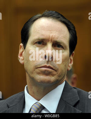 Randall Stephenson, chairman, CEO and president of AT&T, Inc. testifies regarding the proposed merger between AT&T and T-Mobile before the House Judiciary Committee on Capitol Hill in Washington, DC on May 26, 2011.     UPI/Roger L. Wollenberg - Stock Photo