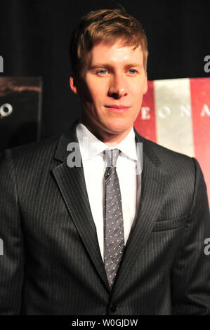 Screenwriter Dustin Lance Black arrives for the premiere of his film 'J. Edgar' at the Newseum in Washington on November 8, 2011. UPI/Kevin Dietsch - Stock Photo