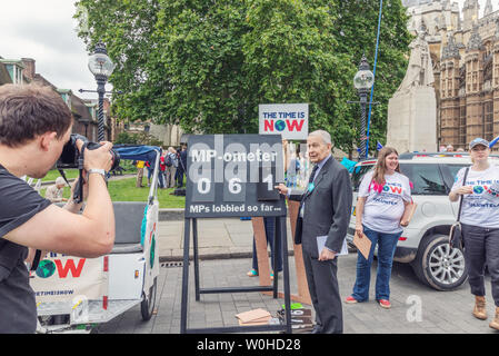 London / UK - June 26th 2019 - Frank Field Member of Parliament at the Climate Coalition 'Time is Now' event to lobby MPs for action on climate change - Stock Photo