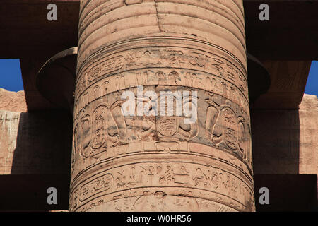 Temple of Kom-Ombo on the Nile river in Egypt - Stock Photo