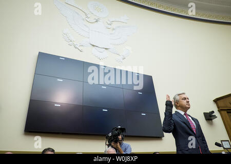 John Stumpf, chairman and CEO of Wells Fargo & Company, testifies before the House Financial Services Committee on September 29, 2016 in Washington. Stumpf is testifying about Wells Fargo's opening of unauthorized customer accounts.       Photo by Pete Marovich/UPI - Stock Photo
