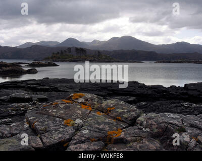 Loch nan Uamh near Arisaig, Scotland - Stock Photo