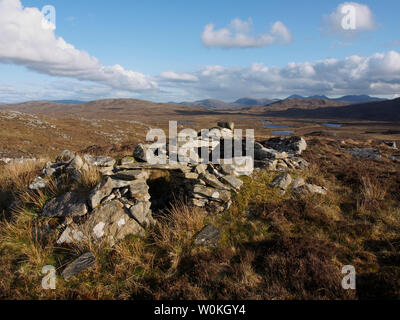 Shieling, Beinn a charnain, Lewis - Stock Photo