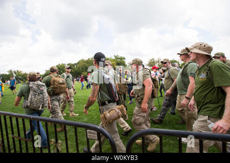 Militia members gather at the pro-trump 'Mother of All Rallies' event on the national mall in Washington, DC on September 16, 2017. The event was held to show support for President Trump and his agenda. Photo by Erin Schaff/UPI - Stock Photo