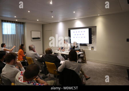 The Foreign Press Association discussion with Jason Langrish on Brexit and the Canada Deal 27 June 2019 Foreign Press headquarters .London UK - Stock Photo