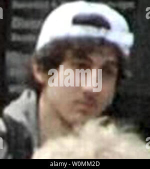 The FBI released a photo of Suspect 2 in surveillance video, now identified as Dzhokhar Tsarnaev, 19, of Cambridge, Massachusetts on April 19, 2013. He and his brother Tamerlan Tsarnaev, 26, are suspected of planting the bombs that killed three and injured 170 during the Boston Marathon on April 15, 2013.  Tamerlan was killed by police on April 18, 2013 and Dzhokhar is still on the loose near Boston.     UPI - Stock Photo