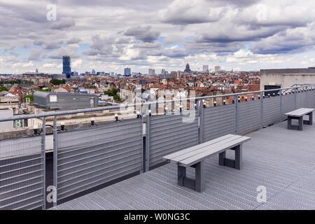Rooftop view across Brussels, Belgium. - Stock Photo