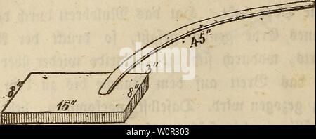 Archive image from page 217 of Der wiesenbau in seinem ganzen. Der wiesenbau in seinem ganzen umfange derwiesenbauinse00hafe Year: 1847  — 198 -    13) 3bii 2ßat$e Senn aua) bie unter ber gongen Kummer befa)rtebene 9lafenflatfä)e eine innige $erbinbung t>er aufgelegten afen mit ber unter benfefben beftnblia)en (£rbe, fo wie eine (£benung berfelben auf Heinen glasen, befonberä an fleifen Rängen unb ®rabenböfa;ungett, $u bewirf en vermag, fo tft fofa)e boa) für größere gtäa)en, be3 foftfpiettgen 3ettaufwanbe$ wegen, nia)t fej>r u empfehlen, fonbern pter bie £ftafenwcuV, wie ia) foJa)e bei - Stock Photo