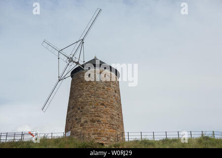 St. Monans Windmill, St. Monans, Fife, Scotland, UK - Stock Photo