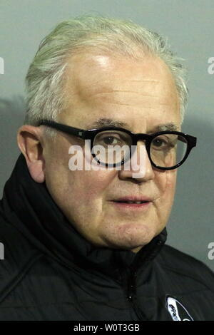 Präsident / Praesident Fritz Keller (Freiburg),     1. BL: 17-18 -27. Spieltag - SC Freiburg vs VfB Stuttgart - Stock Photo