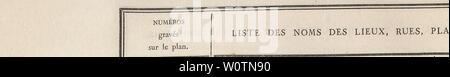 Archive image from page 779 of Description de l'Égypte, ou, Recueil. Description de l'EÌgypte, ou, Recueil des observations et des recherches qui ont eÌteÌ faites en EÌgypte pendant l'eÌxpeÌdition de l'armeÌe française DescriptiondelEIIFran Year: 1809  DES ENVIRONS DU K.AIRE. 757    NUMEROS gravÃs sur le pian. 79 80 81 82 83 84 8î 86 87 88 89 00 91 92 93 94 95 06- 97 98 99 100 101 102 103 104 105 106 107 108 100, 110 111 112 J13 n4, 'M 116, 117 118 119 Sekket Dakak el-Hatab. El-Ouarcheh. El-Mechânteh. Gâma el-Gyfânyeh. Gâma el-Cheykh Farag. Gâma el-Barâiy. Beyt Hannâ Byny. El-Dyouâ - Stock Photo