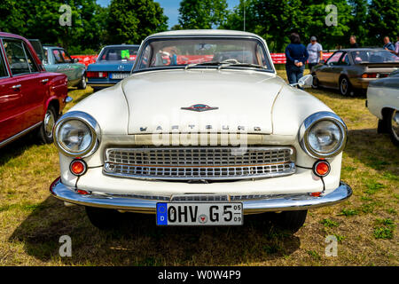 PAAREN IM GLIEN, GERMANY - MAY 19, 2018: Mid-size car Wartburg 312. Exhibition 'Die Oldtimer Show 2018'. - Stock Photo