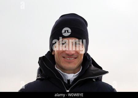 Martin Schmitt (TV-Experte /Skisprung-Experte, Eurosport, Ex-Weltmeister) beim Neujahrsskispringen Vierschanzentournee GAP 2019 - Stock Photo