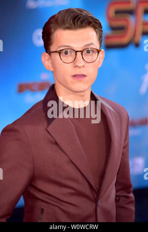 Tom Holland at the world premiere of the feature film 'Spider-Man: Far from Home' at the TCL Chinese Theater. Los Angeles, 26.06.2019 | usage worldwide - Stock Photo