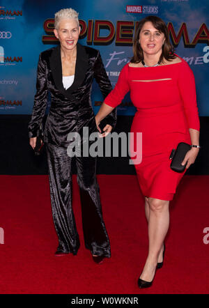 Los Angeles, CA - June 26, 2019: Guests attend the premiere of Sony Pictures 'Spider-Man Far From Home' held at TCL Chinese Theatre - Stock Photo