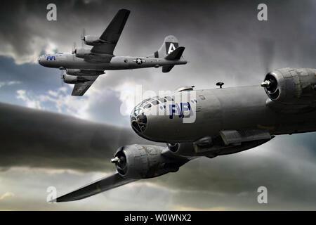 Boeing B-29 Superfortress_Fifi - Stock Photo