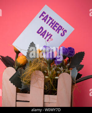 Word writing text Father S Day. Business photo showcasing day of year where fathers are particularly honoured by children Empty plain paper in between - Stock Photo