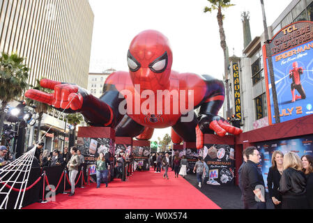 HOLLYWOOD, CA - JUNE 26: Atmosphere at the premiere of Sony Pictures' 'Spider-Man Far From Home' at TCL Chinese Theatre on June 26, 2019 in Hollywood, California. - Stock Photo