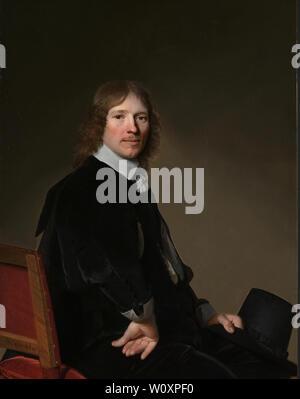 Portrait of Eduard Wallis (1652). Verspronck, Johannes Cornelisz. - Stock Photo