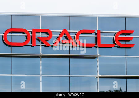 Deerfield - Circa June 2019: Oracle Corporation location. Oracle offers technology and cloud based solutions I - Stock Photo