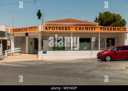 chemist in spain - Stock Photo