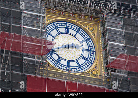 Big Ben renovation in London, United Kingdom - Stock Photo