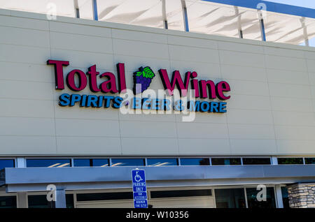 The Total Wine and More store in Pleasanton California USA - Stock Photo