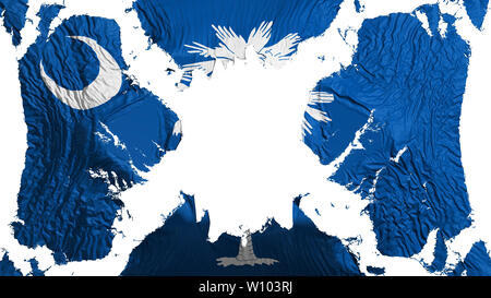 South Carolina state torn flag fluttering in the wind - Stock Photo